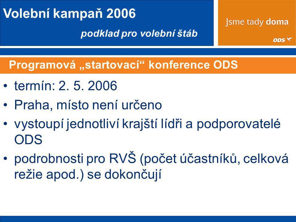 """Programová """"startovací konference ODS"""