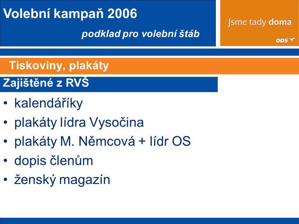 plakáty lídra Vysočina plakáty M. Němcová + lídr OS dopis členům