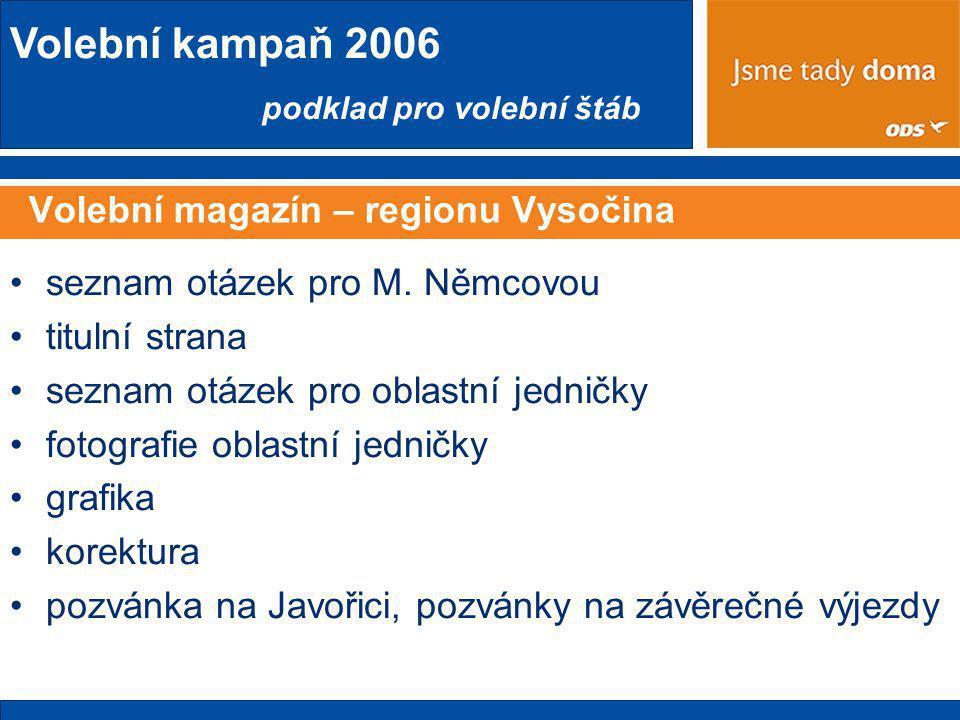 Volební magazín – regionu Vysočina
