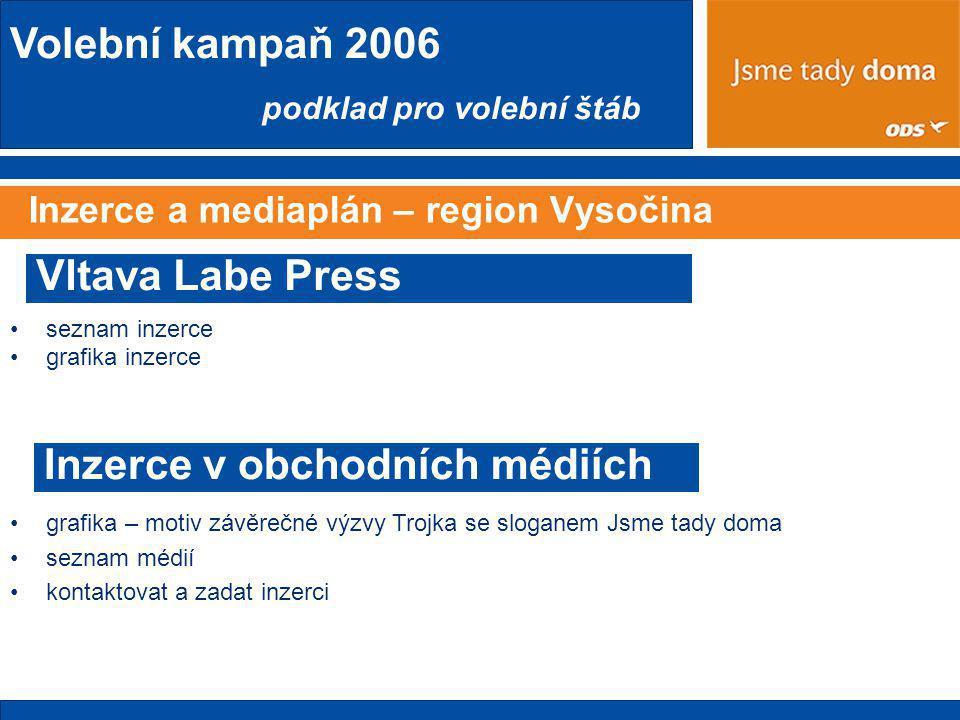 Inzerce a mediaplán – region Vysočina