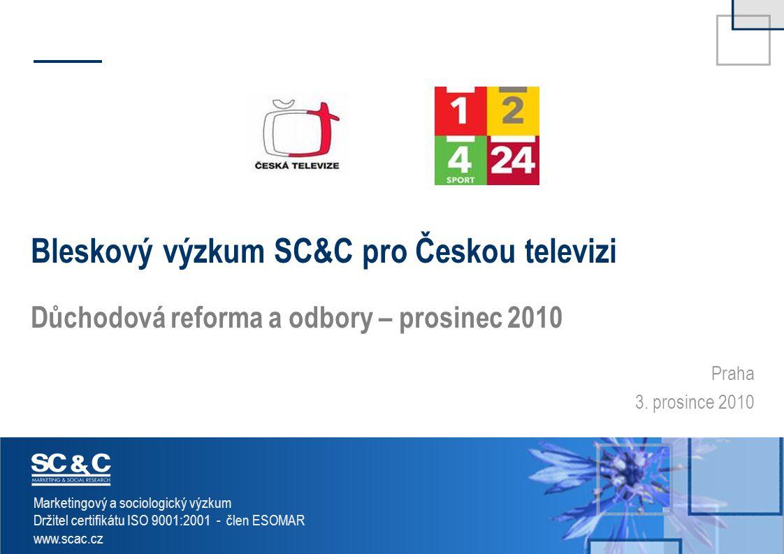 Bleskový výzkum SC&C pro Českou televizi
