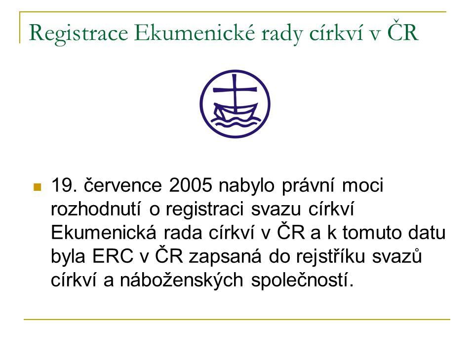 Registrace Ekumenické rady církví v ČR