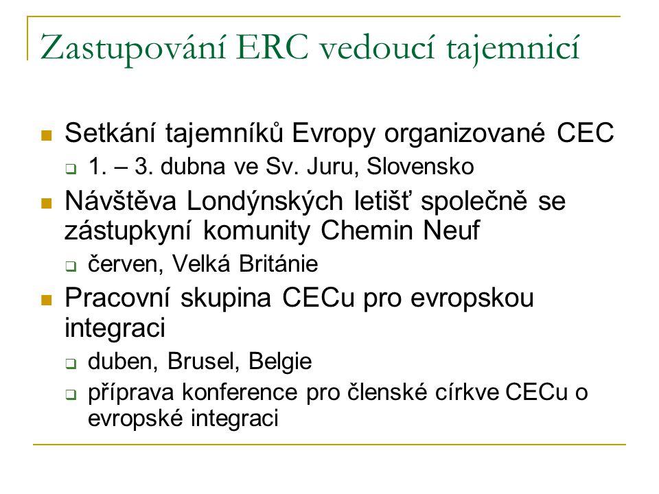 Zastupování ERC vedoucí tajemnicí