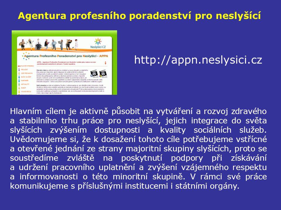 Agentura profesního poradenství pro neslyšící