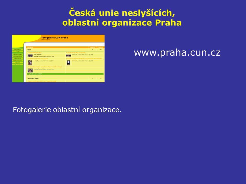 Česká unie neslyšících, oblastní organizace Praha