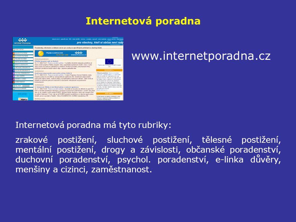 www.internetporadna.cz Internetová poradna