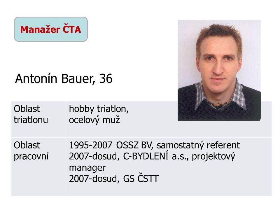 Antonín Bauer, 36 Manažer ČTA Oblast triatlonu