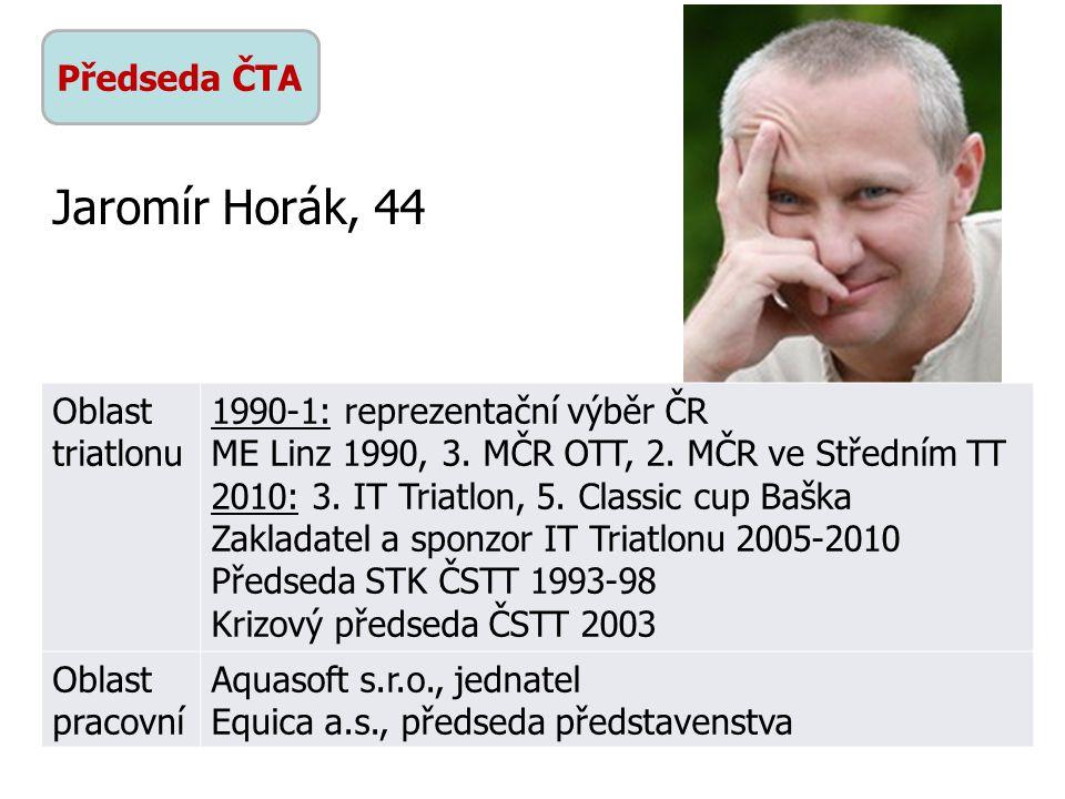 Jaromír Horák, 44 Předseda ČTA Oblast triatlonu