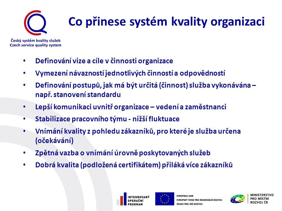 Co přinese systém kvality organizaci