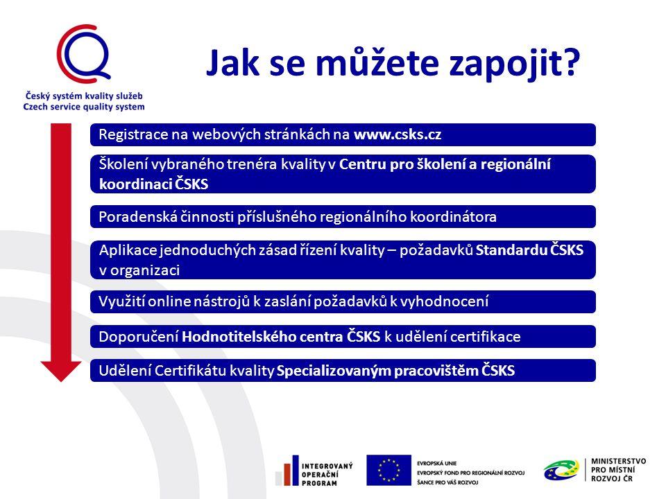Jak se můžete zapojit Registrace na webových stránkách na www.csks.cz