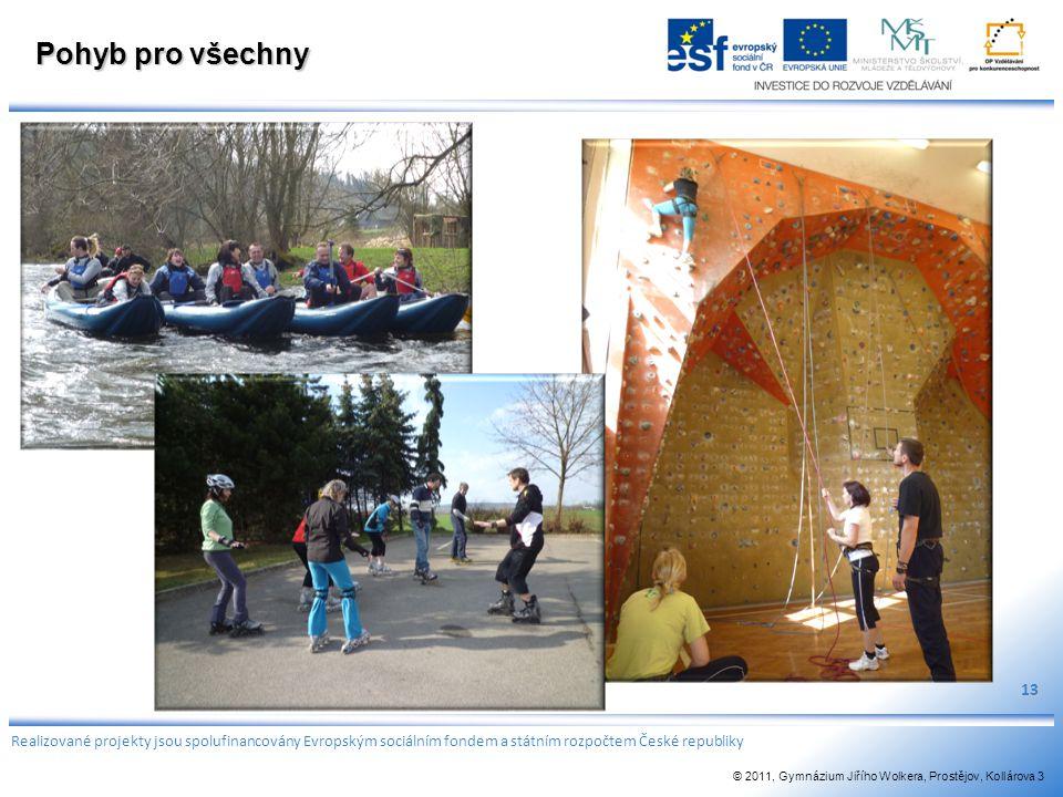 Pohyb pro všechny 13. Realizované projekty jsou spolufinancovány Evropským sociálním fondem a státním rozpočtem České republiky.