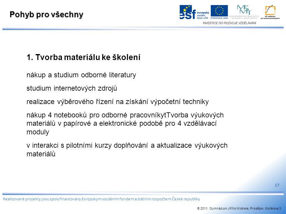 1. Tvorba materiálu ke školení