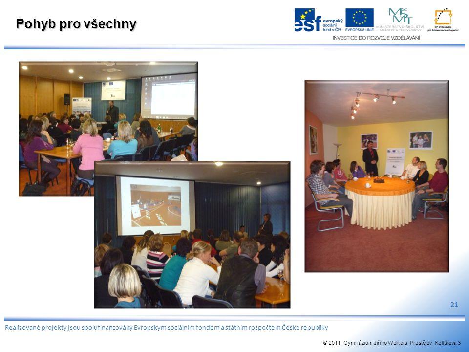 Pohyb pro všechny 21. Realizované projekty jsou spolufinancovány Evropským sociálním fondem a státním rozpočtem České republiky.