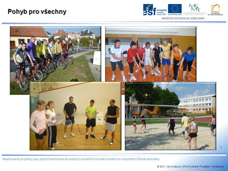 Pohyb pro všechny 7. Realizované projekty jsou spolufinancovány Evropským sociálním fondem a státním rozpočtem České republiky.