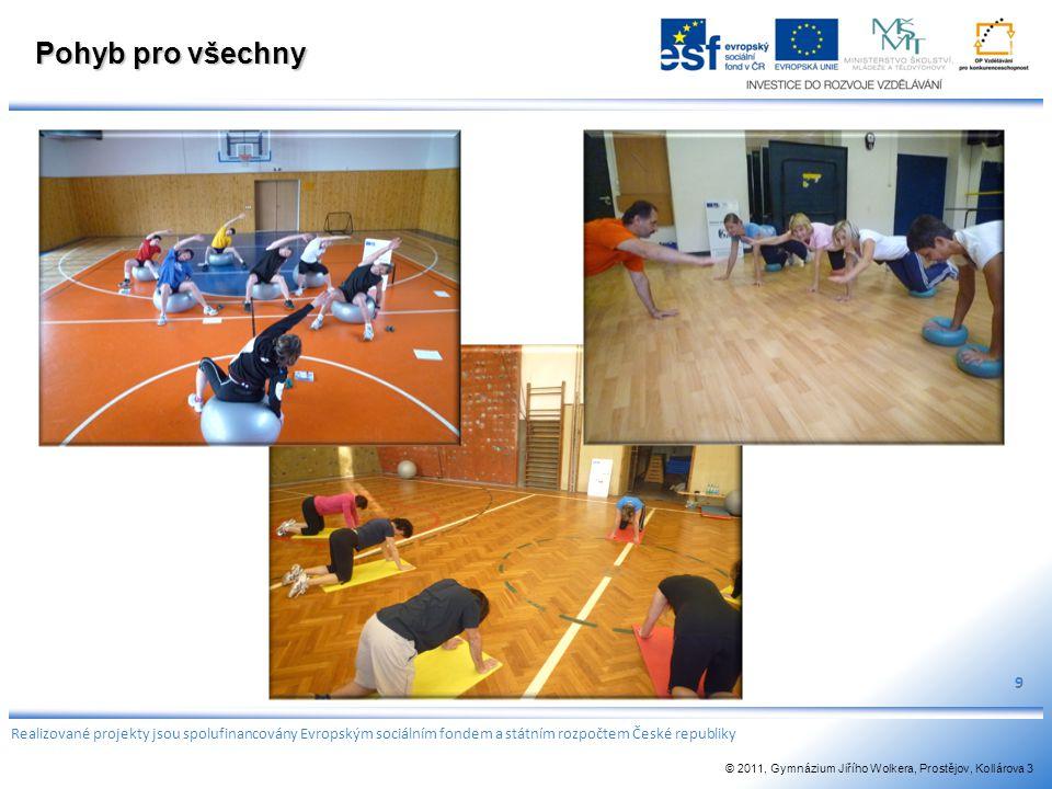 Pohyb pro všechny 9. Realizované projekty jsou spolufinancovány Evropským sociálním fondem a státním rozpočtem České republiky.