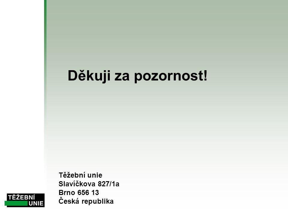 Děkuji za pozornost! Těžební unie Slavíčkova 827/1a Brno 656 13