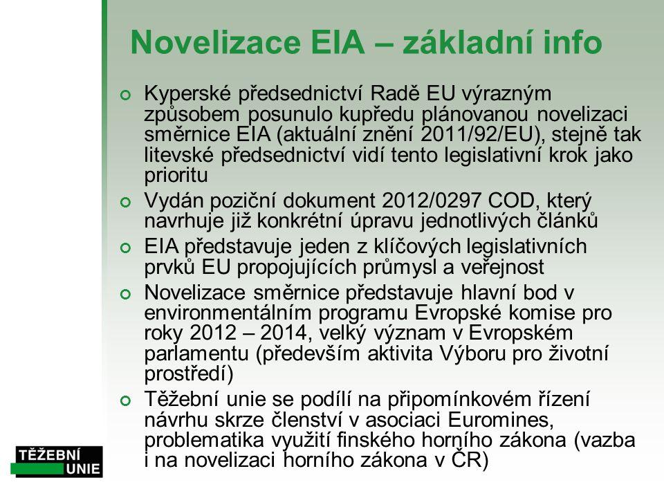 Novelizace EIA – základní info