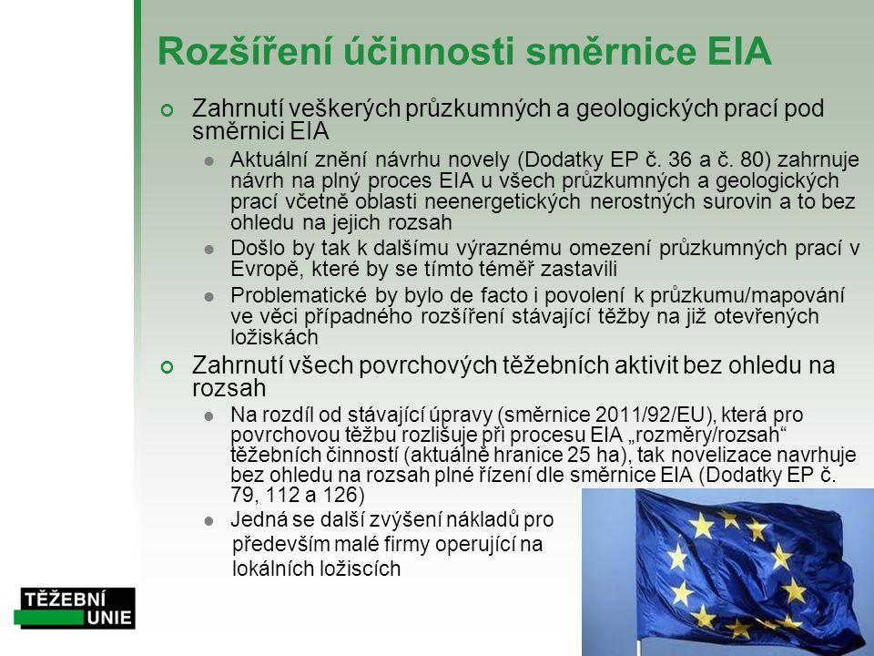 Rozšíření účinnosti směrnice EIA