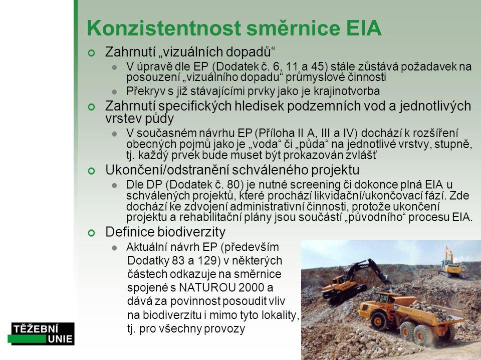 Konzistentnost směrnice EIA