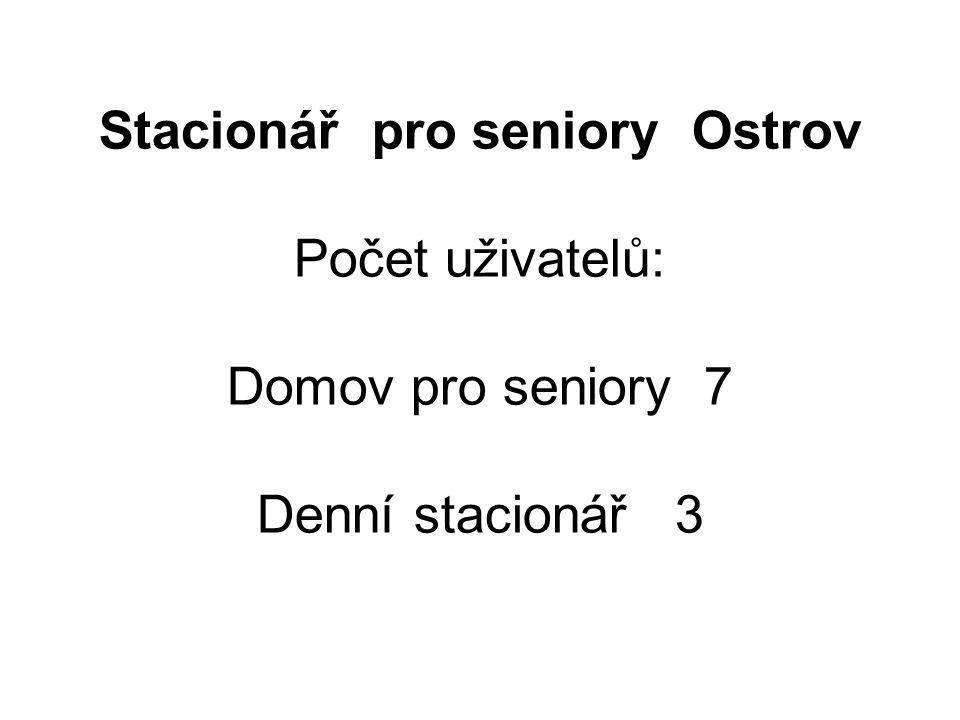 Stacionář pro seniory Ostrov Počet uživatelů: Domov pro seniory 7 Denní stacionář 3