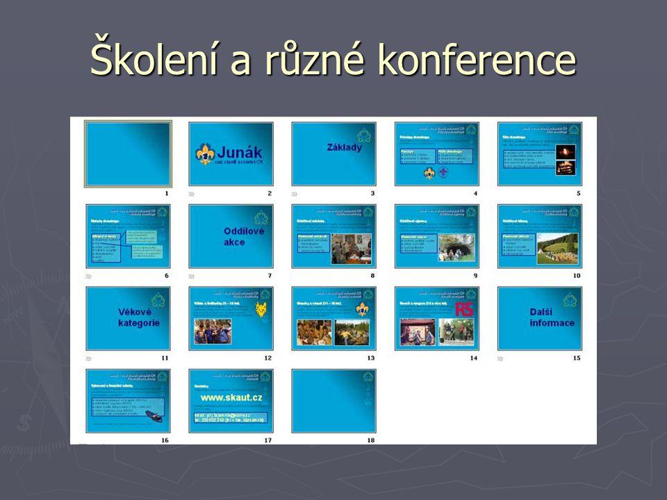 Školení a různé konference