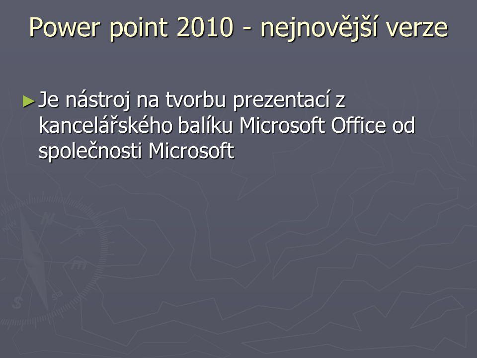 Power point 2010 - nejnovější verze