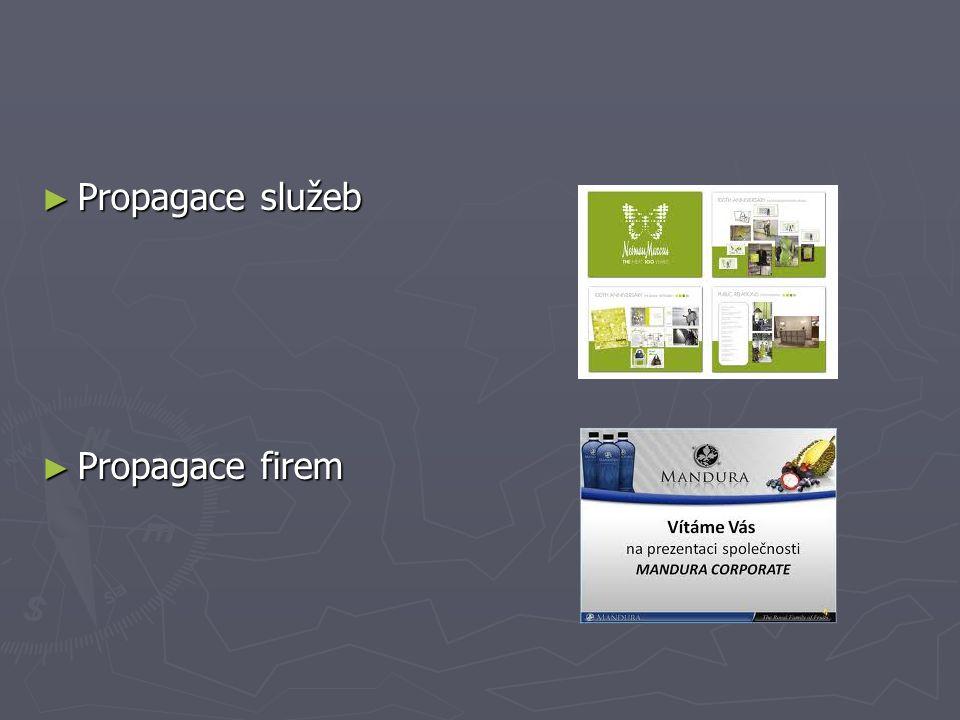 Propagace služeb Propagace firem