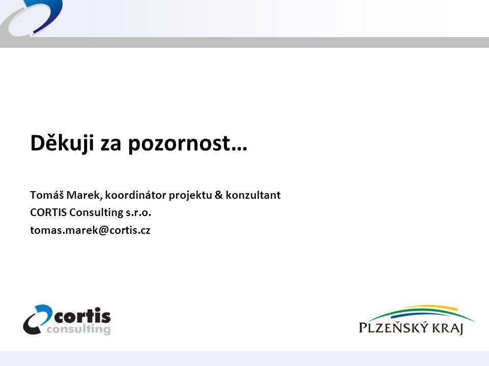 Děkuji za pozornost… Tomáš Marek, koordinátor projektu & konzultant
