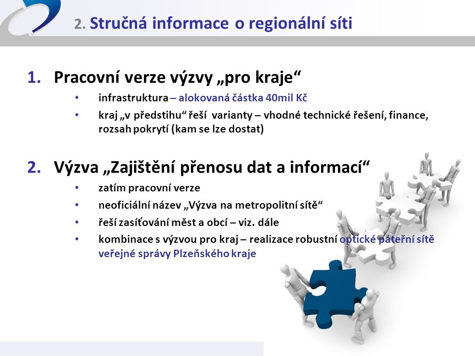 2. Stručná informace o regionální síti