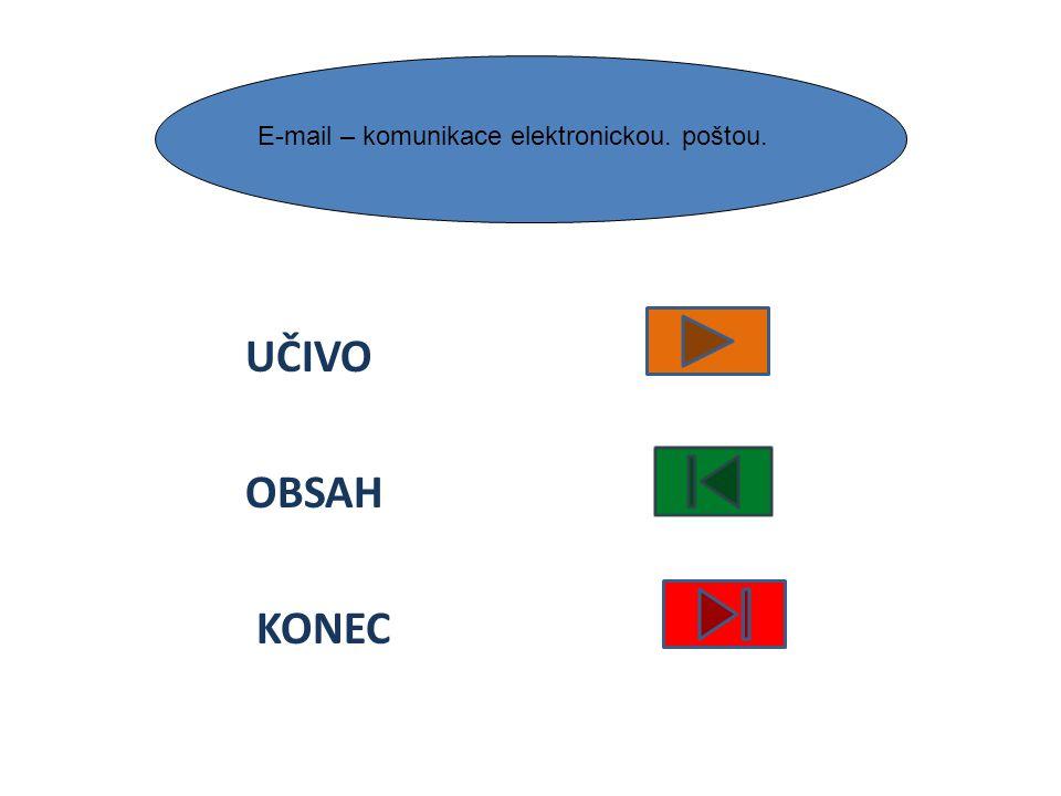 E-mail – komunikace elektronickou. poštou.
