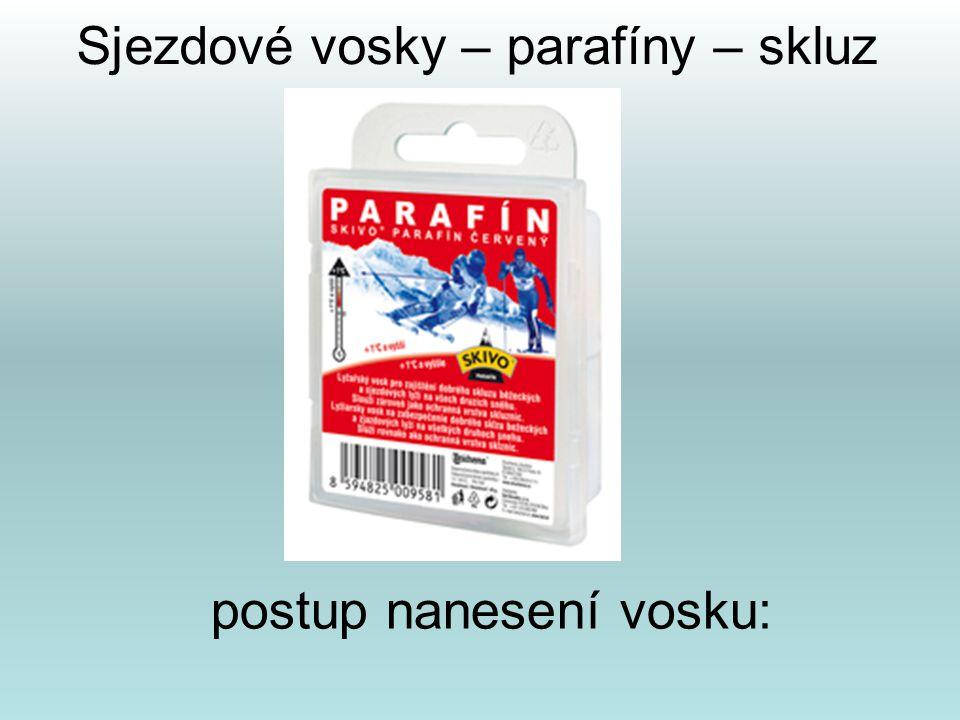 Sjezdové vosky – parafíny – skluz
