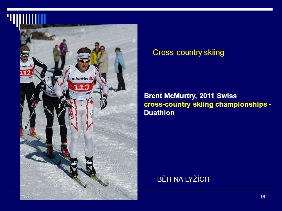 Cross-country skiing Brent McMurtry, 2011 Swiss