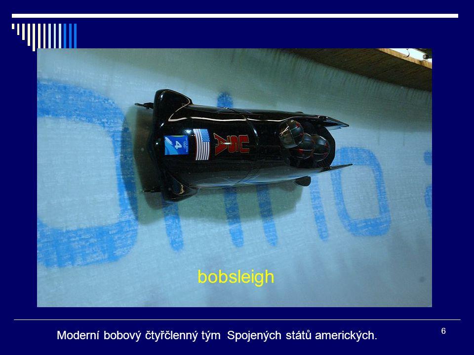 bobsleigh Moderní bobový čtyřčlenný tým Spojených států amerických.