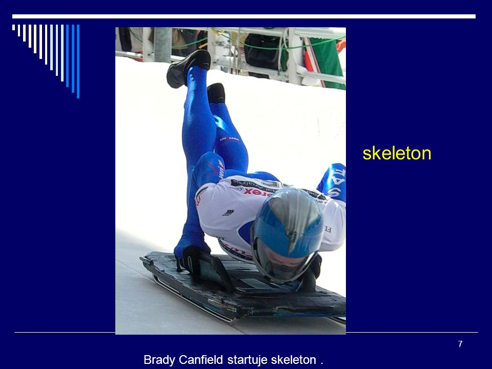 skeleton Brady Canfield startuje skeleton .