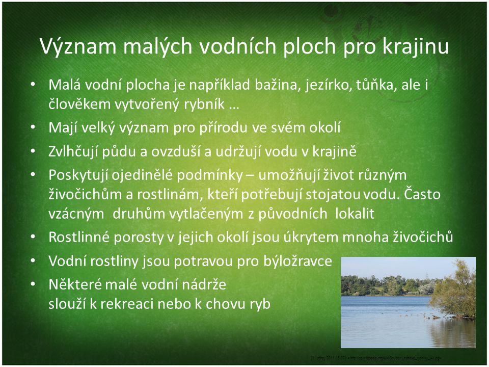 Význam malých vodních ploch pro krajinu