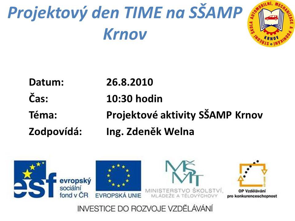 Projektový den TIME na SŠAMP Krnov