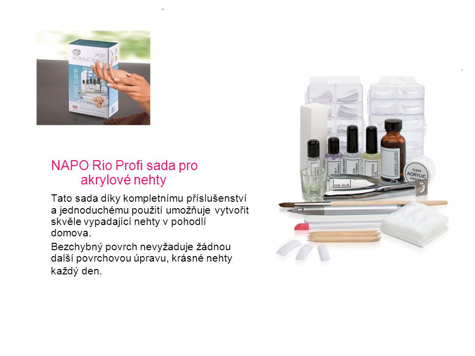 NAPO Rio Profi sada pro akrylové nehty