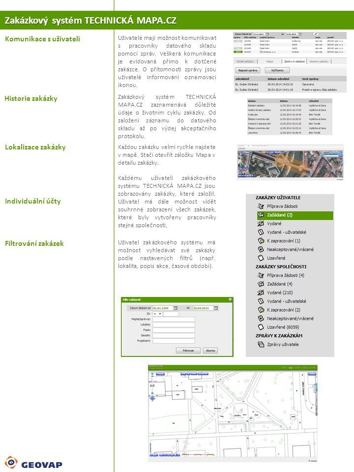 Zakázkový systém TECHNICKÁ MAPA.CZ