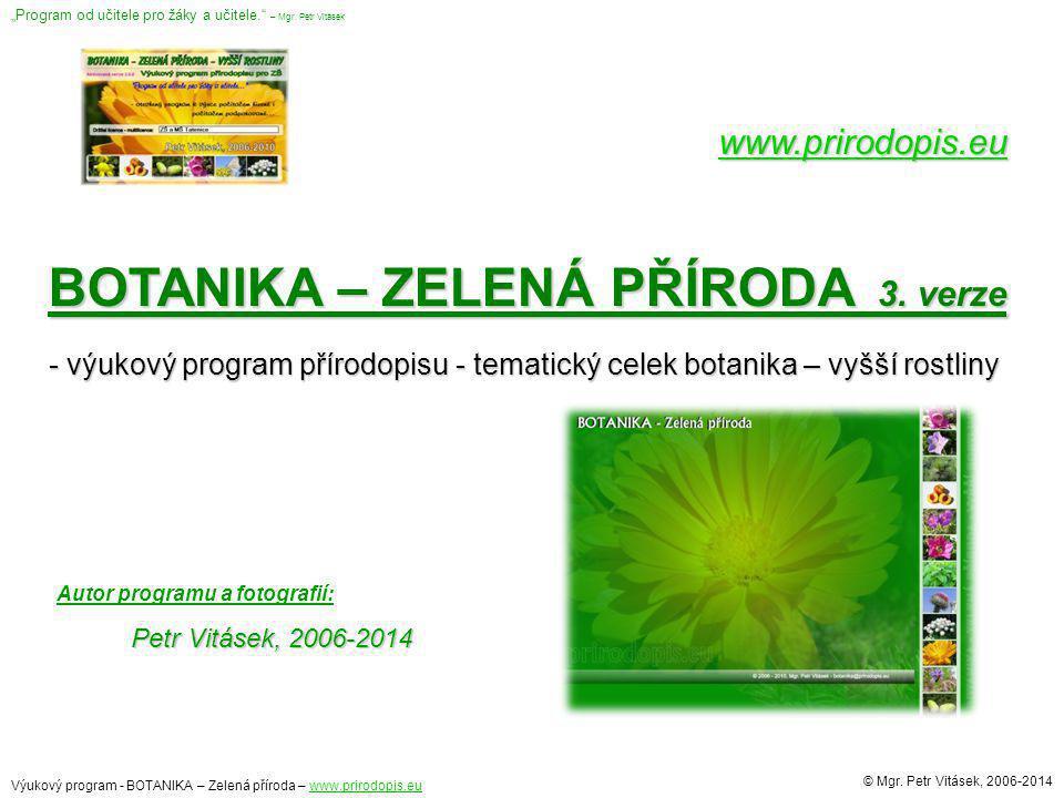 BOTANIKA – ZELENÁ PŘÍRODA 3. verze