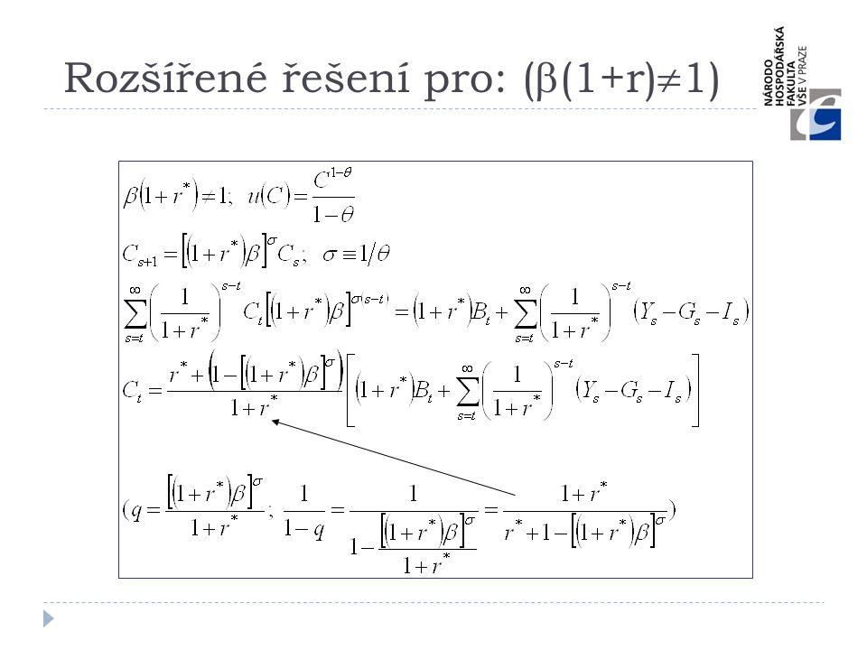Rozšířené řešení pro: ((1+r)1)