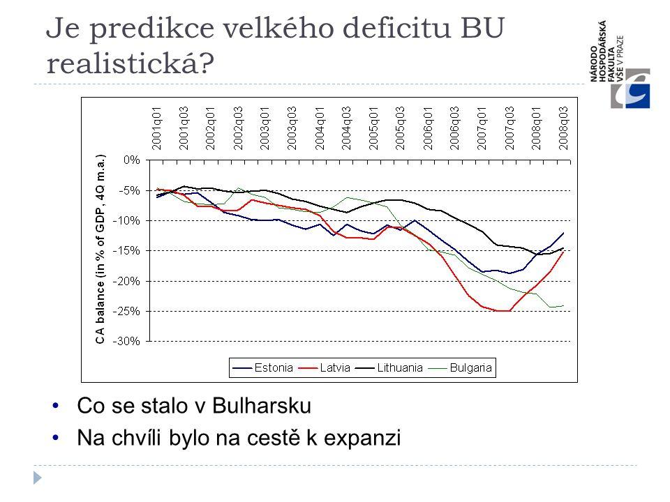 Je predikce velkého deficitu BU realistická