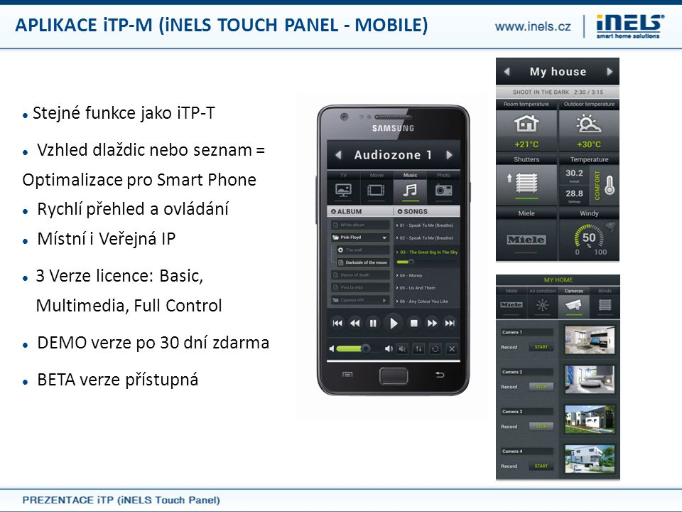 APLIKACE iTP-M (iNELS TOUCH PANEL - MOBILE)