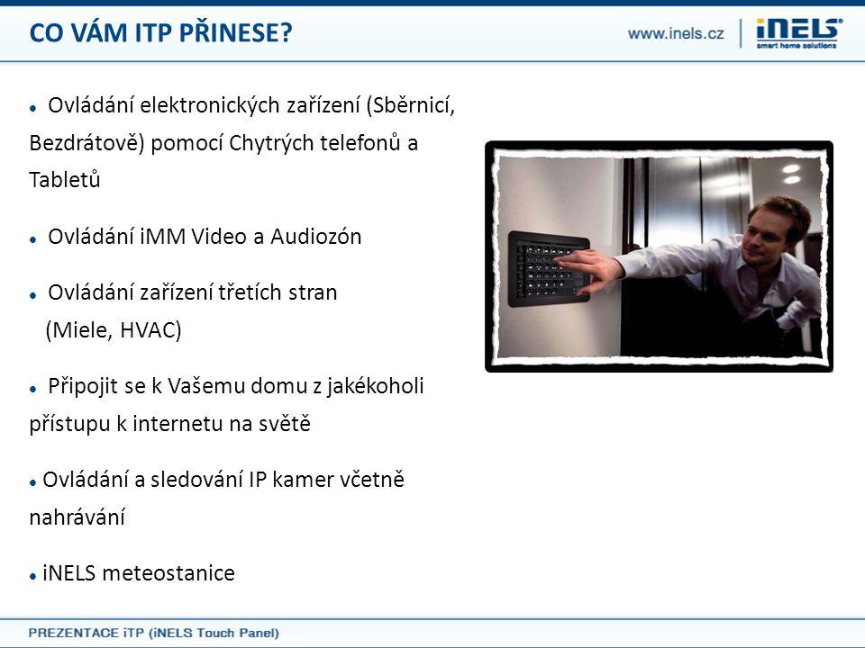 CO VÁM ITP PŘINESE Ovládání elektronických zařízení (Sběrnicí, Bezdrátově) pomocí Chytrých telefonů a Tabletů.