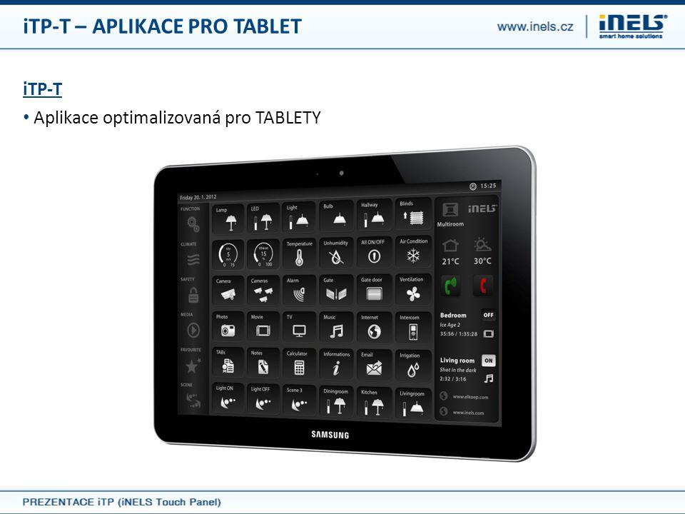 iTP-T – APLIKACE PRO TABLET