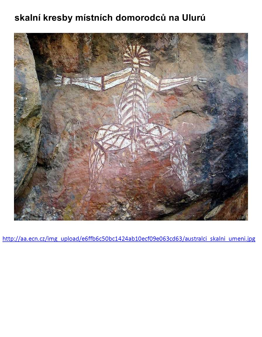 skalní kresby místních domorodců na Ulurú