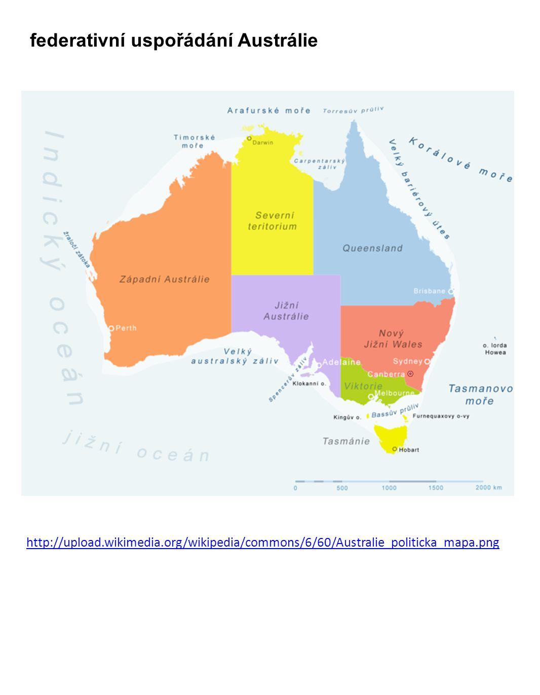 federativní uspořádání Austrálie