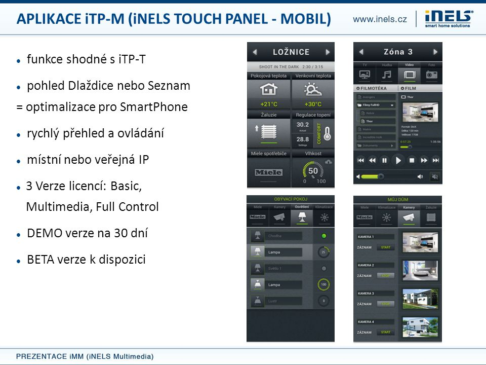 APLIKACE iTP-M (iNELS TOUCH PANEL - MOBIL)