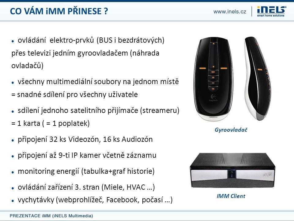 CO VÁM iMM PŘINESE ovládání elektro-prvků (BUS i bezdrátových) přes televizi jedním gyroovladačem (náhrada ovladačů)