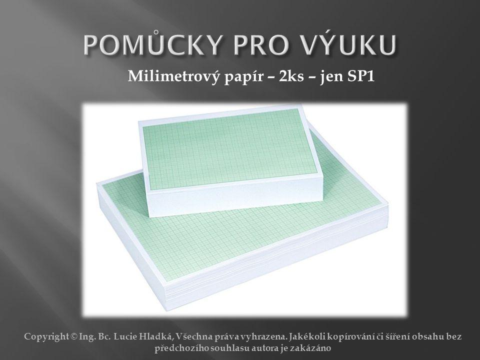 POMŮCKY PRO VÝUKU Milimetrový papír – 2ks – jen SP1
