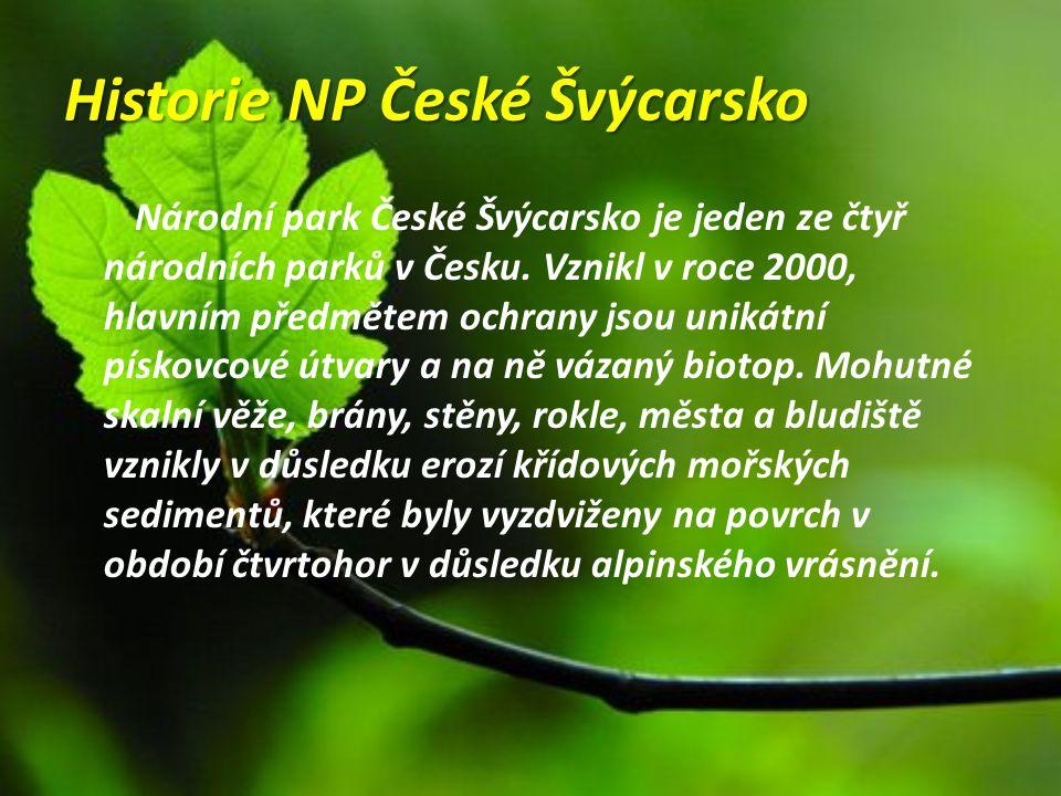 Historie NP České Švýcarsko